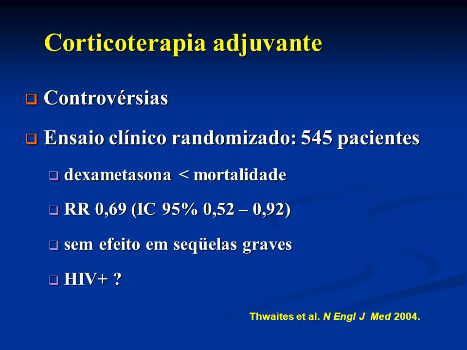 Corticoterapia adjuvante