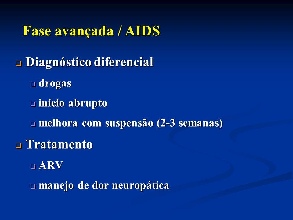 Fase avançada / AIDS Diagnóstico diferencial Tratamento drogas