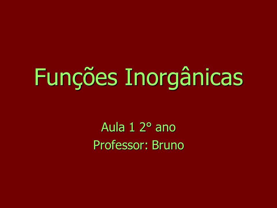 Aula 1 2° ano Professor: Bruno