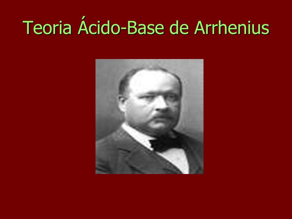 Teoria Ácido-Base de Arrhenius