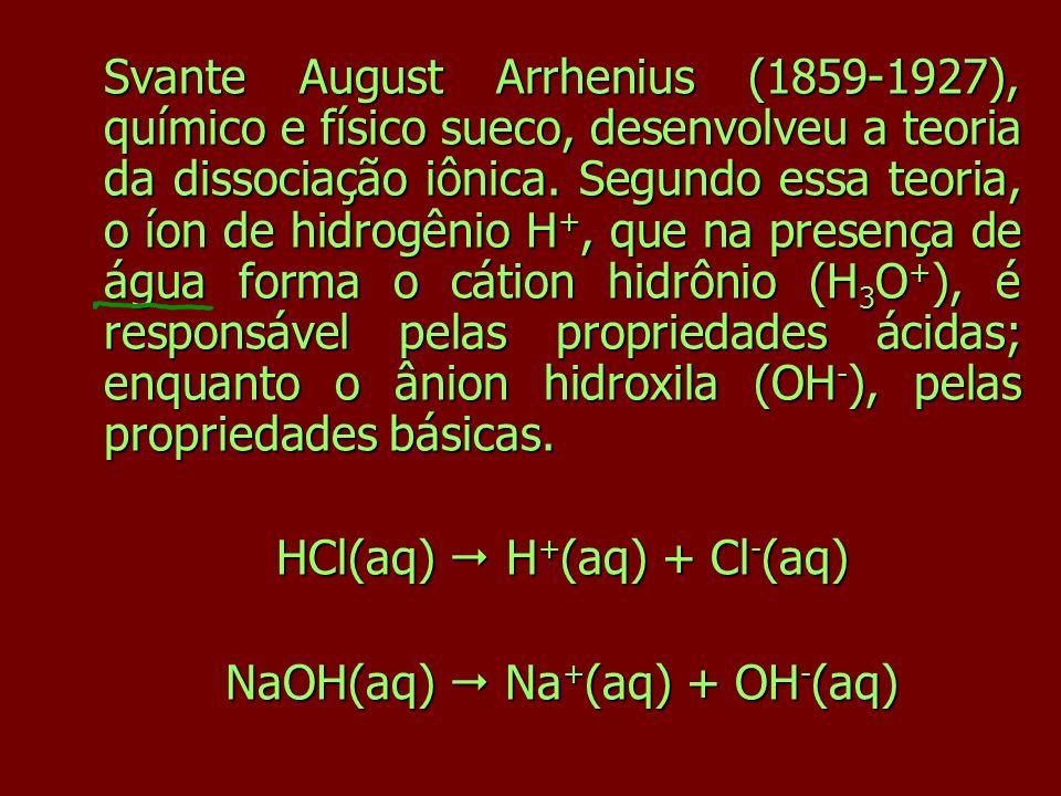 HCl(aq)  H+(aq) + Cl-(aq) NaOH(aq)  Na+(aq) + OH-(aq)