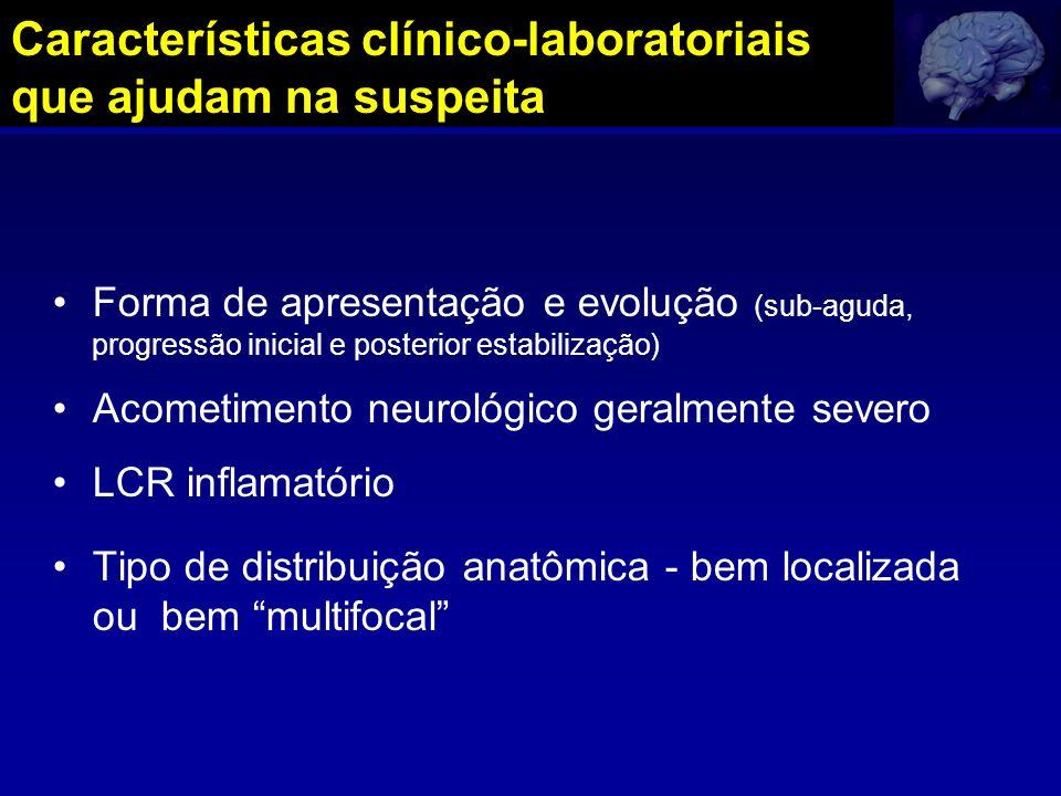 Características clínico-laboratoriais que ajudam na suspeita