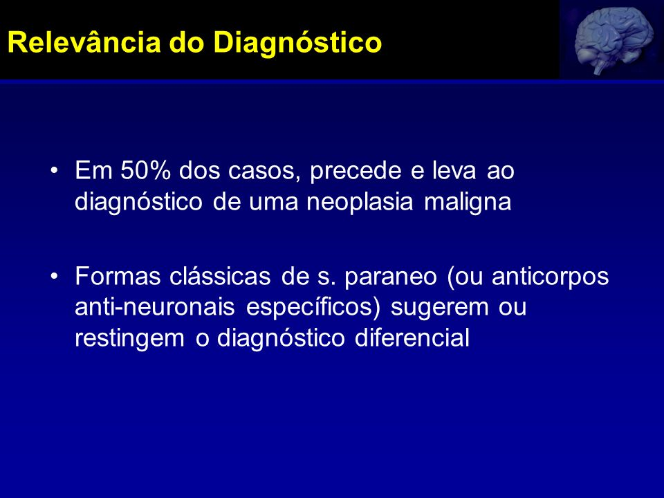 Relevância do Diagnóstico