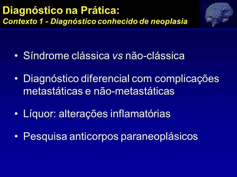 Diagnóstico na Prática: Contexto 1 - Diagnóstico conhecido de neoplasia