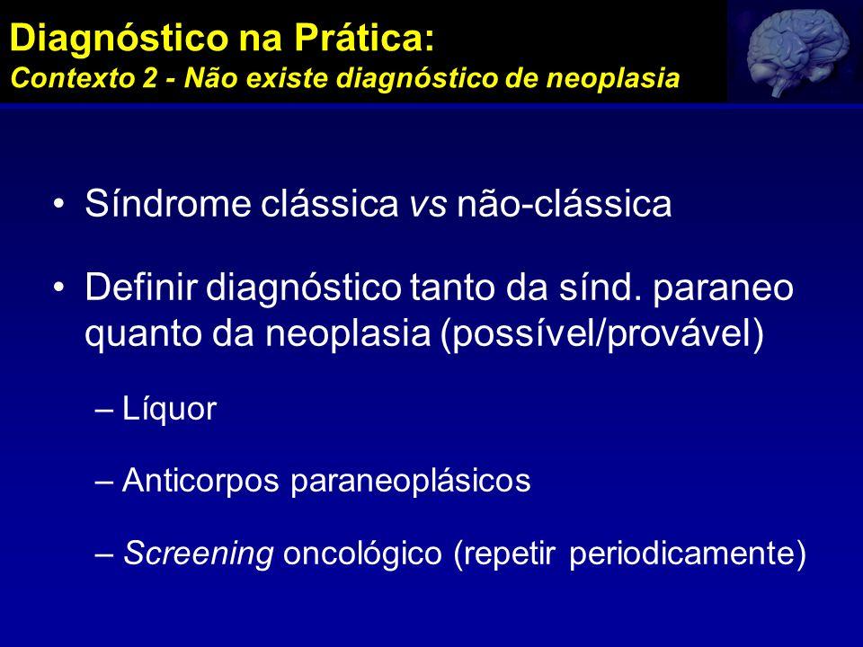 Síndrome clássica vs não-clássica