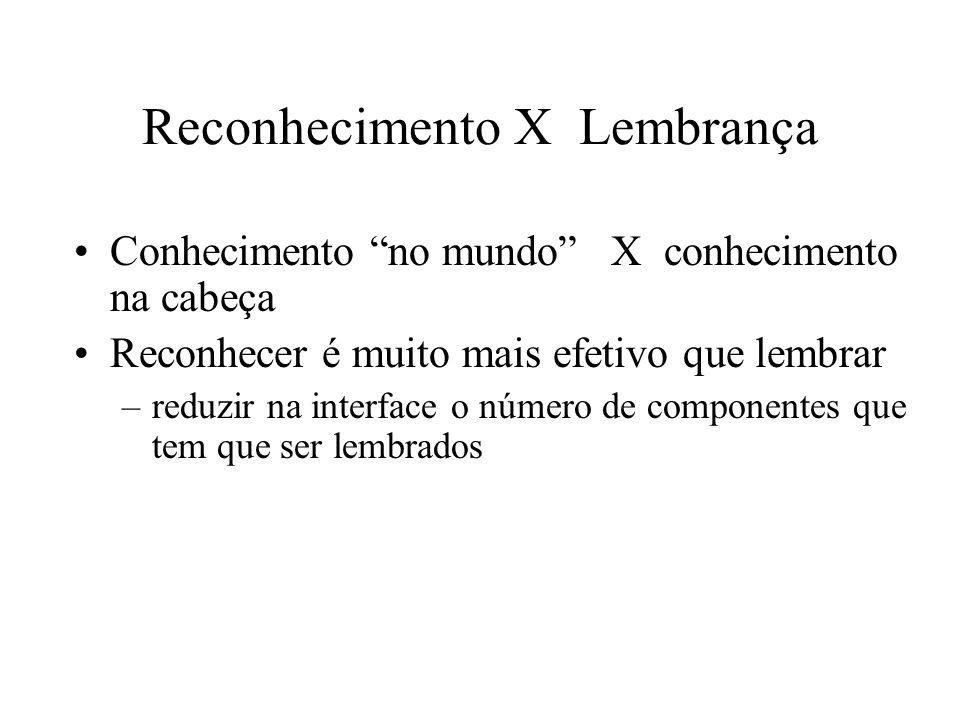 Reconhecimento X Lembrança