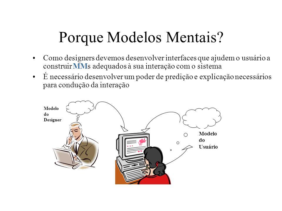 Porque Modelos Mentais