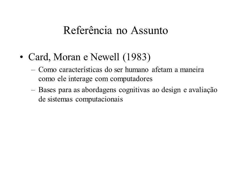 Referência no Assunto Card, Moran e Newell (1983)