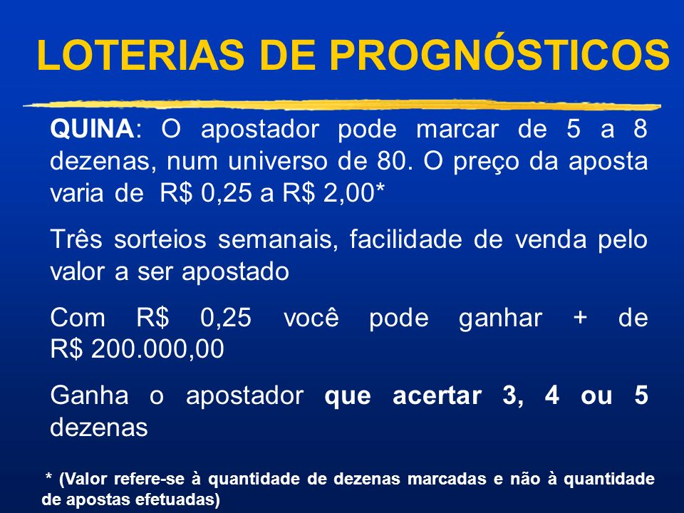LOTERIAS DE PROGNÓSTICOS