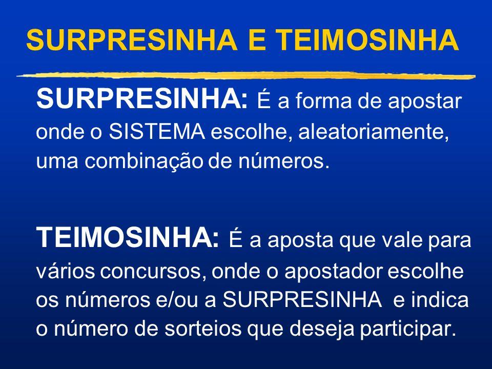SURPRESINHA E TEIMOSINHA