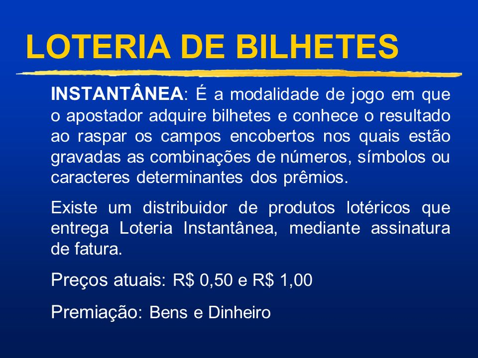 LOTERIA DE BILHETES