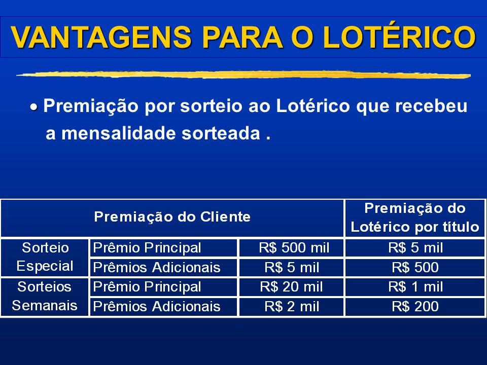 VANTAGENS PARA O LOTÉRICO