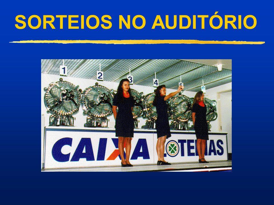 SORTEIOS NO AUDITÓRIO Sorteio realizado no auditório da CAIXA