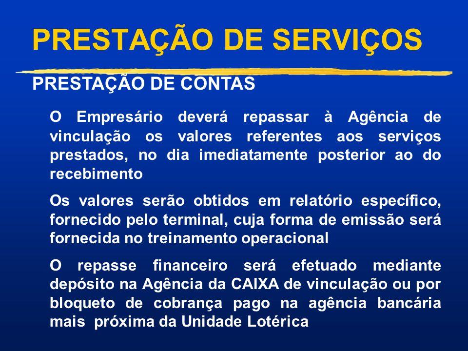 PRESTAÇÃO DE SERVIÇOS PRESTAÇÃO DE CONTAS.