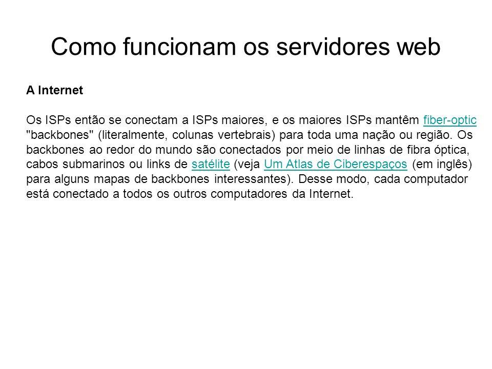 Como funcionam os servidores web