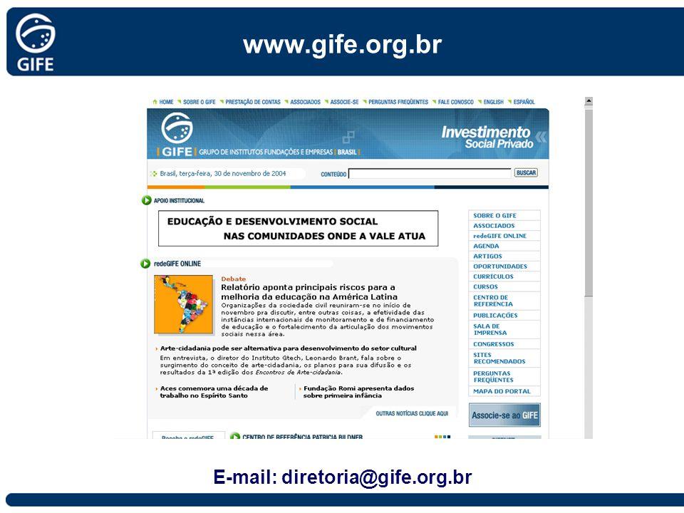 E-mail: diretoria@gife.org.br