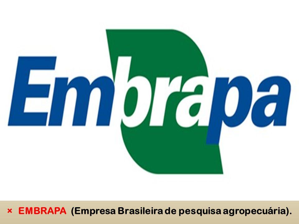 EMBRAPA (Empresa Brasileira de pesquisa agropecuária).