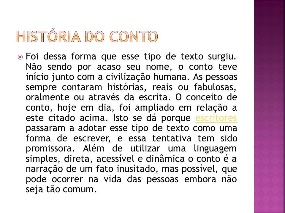 HISTÓRIA DO CONTO