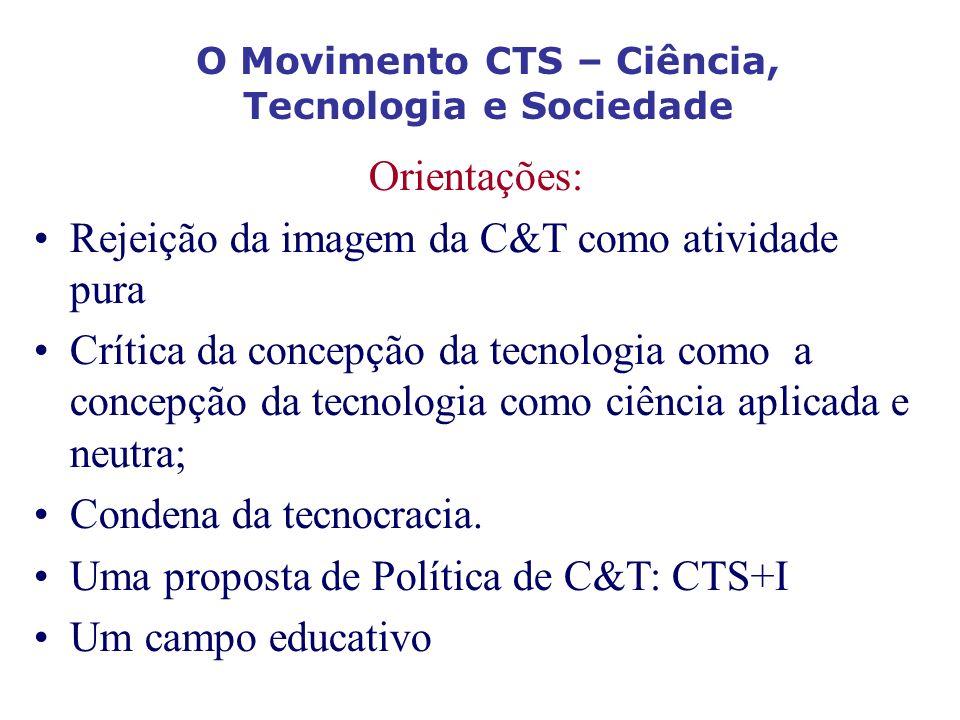 O Movimento CTS – Ciência, Tecnologia e Sociedade