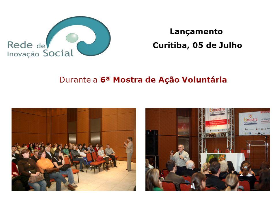Durante a 6ª Mostra de Ação Voluntária