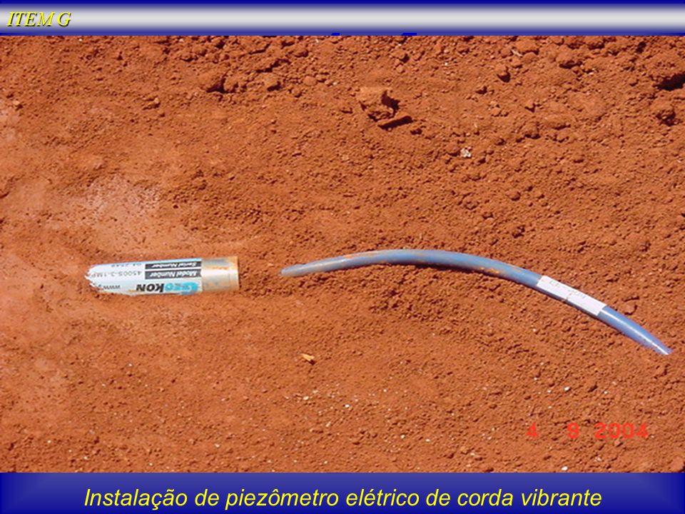 Instalação de piezômetro elétrico de corda vibrante