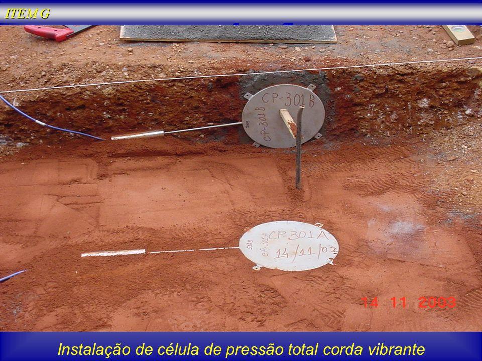 Instalação de célula de pressão total corda vibrante