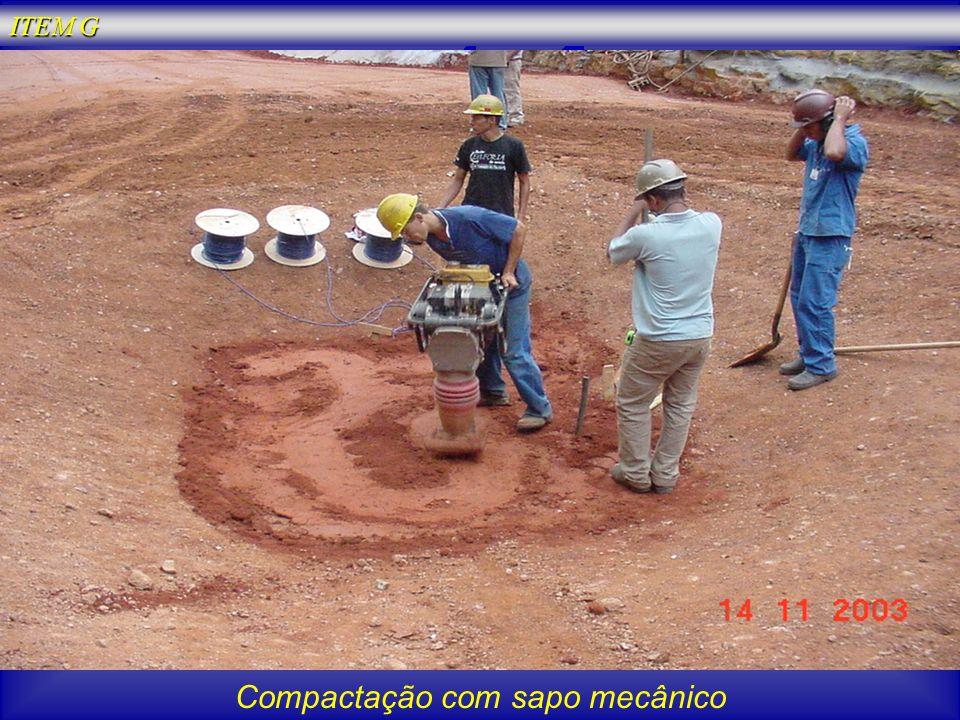 Compactação com sapo mecânico
