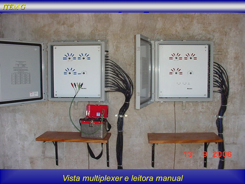 Vista multiplexer e leitora manual