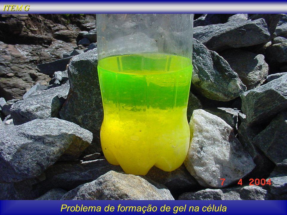 Problema de formação de gel na célula