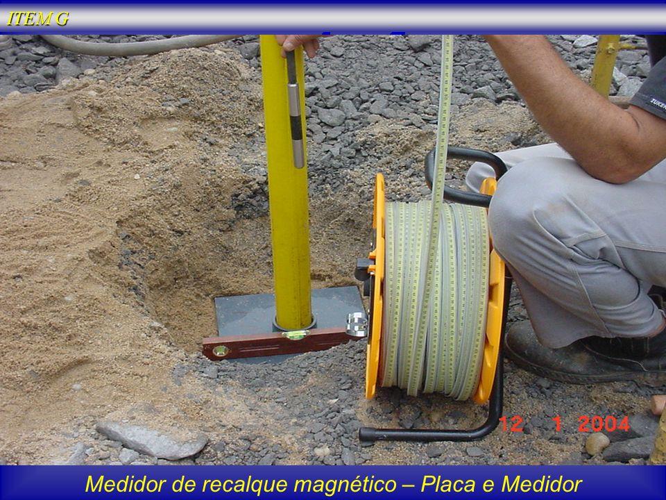 Medidor de recalque magnético – Placa e Medidor