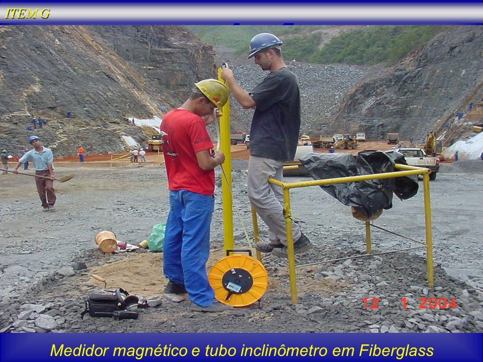 Medidor magnético e tubo inclinômetro em Fiberglass