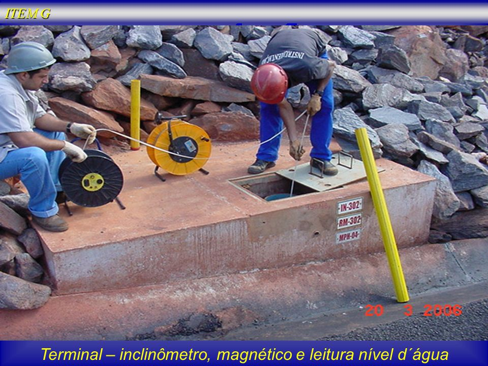 Terminal – inclinômetro, magnético e leitura nível d´água
