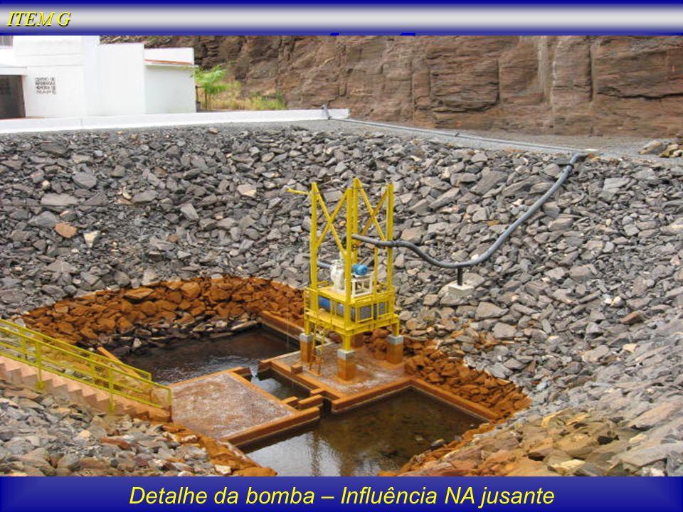 Detalhe da bomba – Influência NA jusante