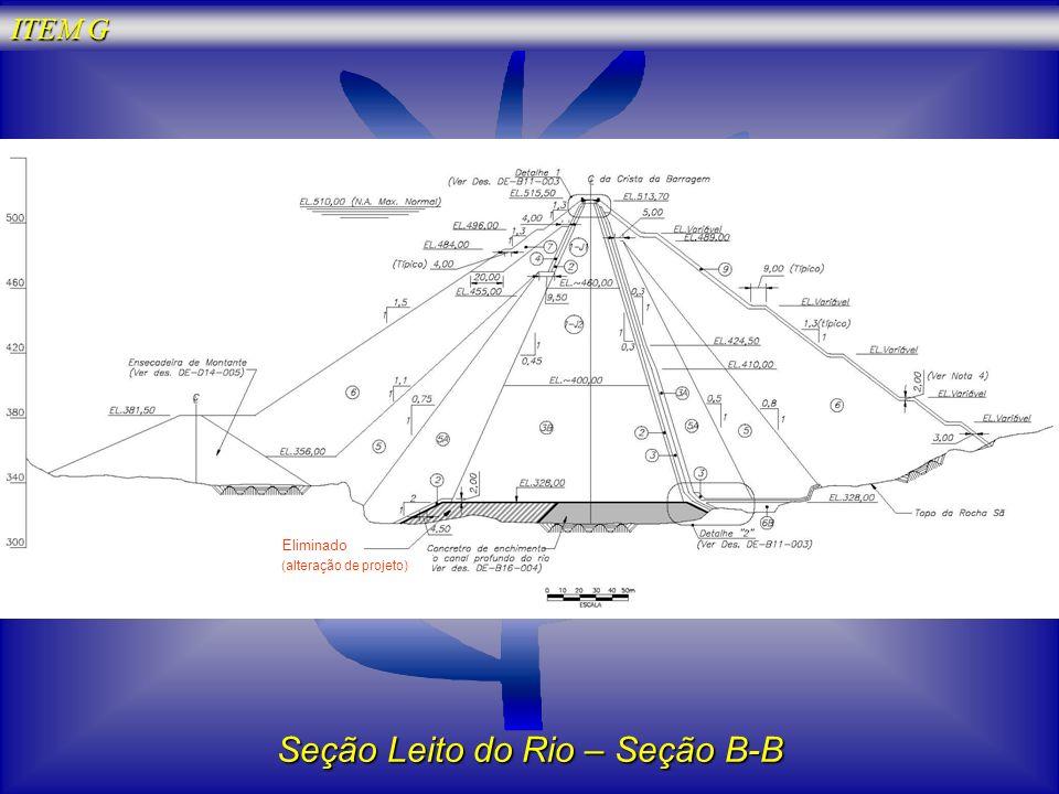 Seção Leito do Rio – Seção B-B