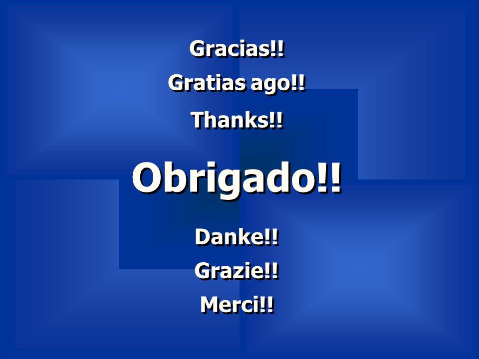Gracias!! Gratias ago!! Thanks!! Obrigado!! Danke!! Grazie!! Merci!!