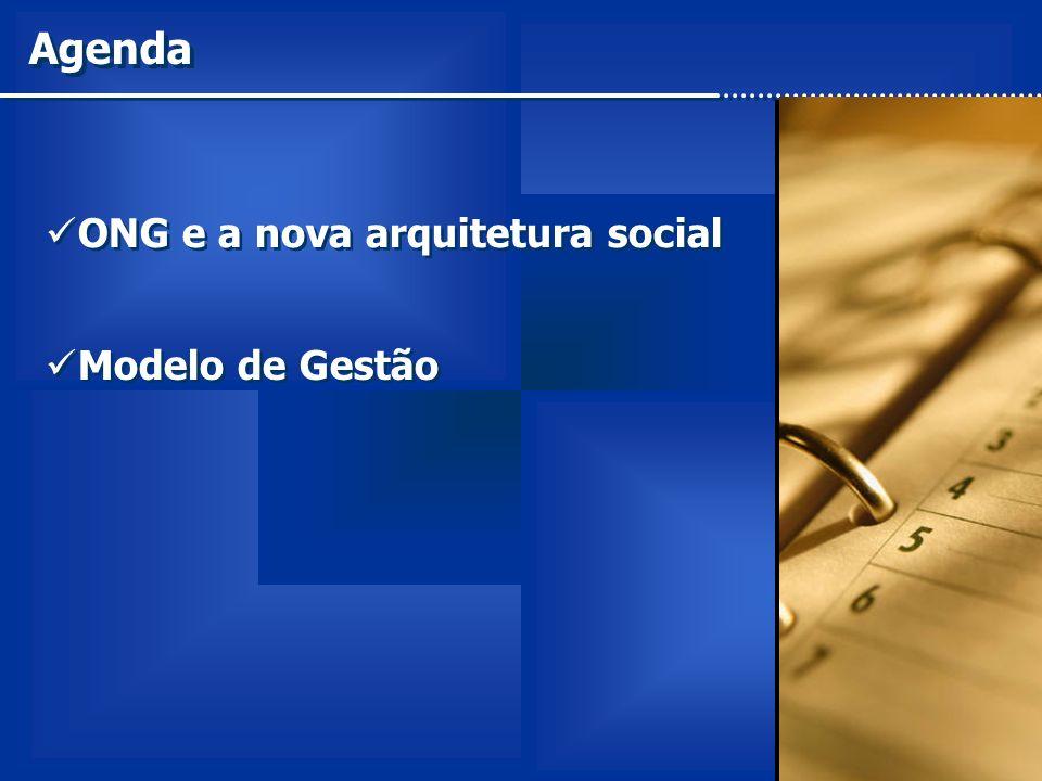 Agenda ONG e a nova arquitetura social Modelo de Gestão