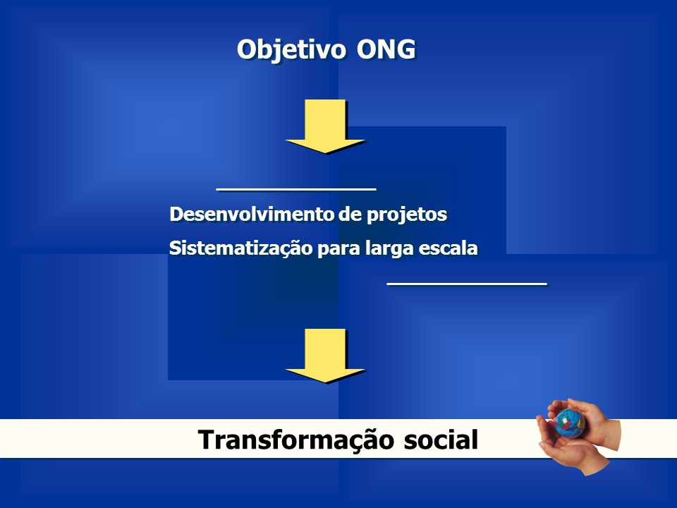 Objetivo ONG Transformação social