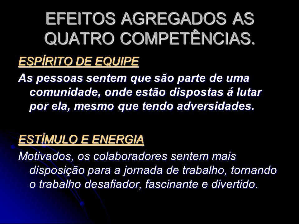 EFEITOS AGREGADOS AS QUATRO COMPETÊNCIAS.