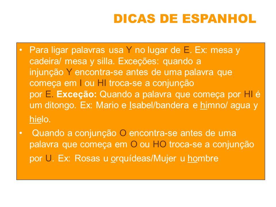 DICAS DE ESPANHOL
