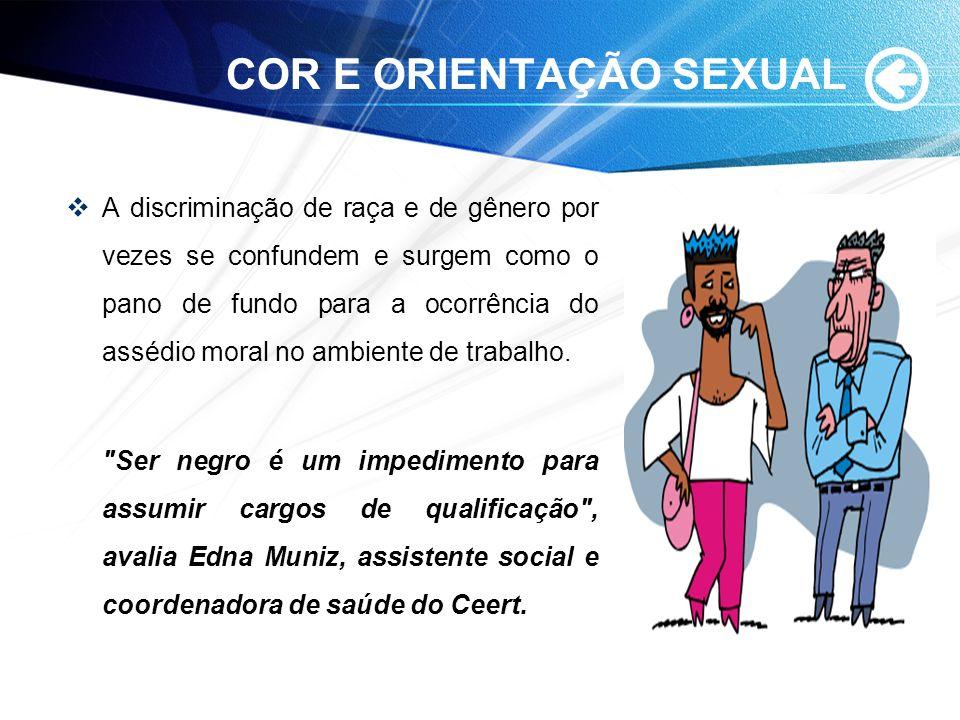 COR E ORIENTAÇÃO SEXUAL