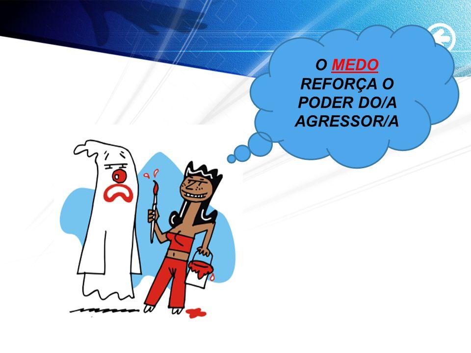 O MEDO REFORÇA O PODER DO/A AGRESSOR/A