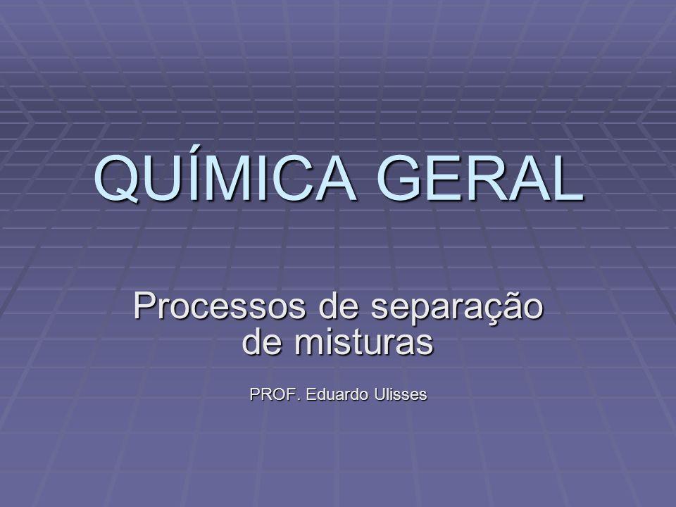 Processos de separação de misturas PROF. Eduardo Ulisses
