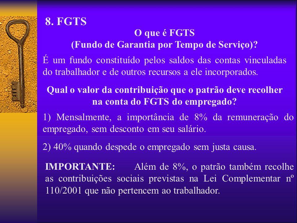 O que é FGTS (Fundo de Garantia por Tempo de Serviço)