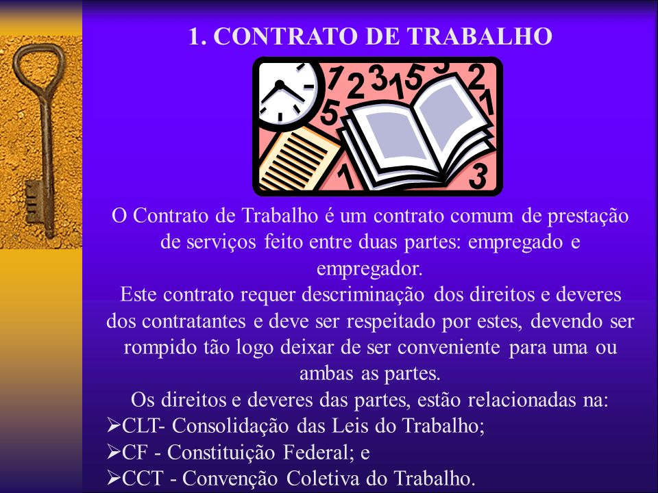 Os direitos e deveres das partes, estão relacionadas na: