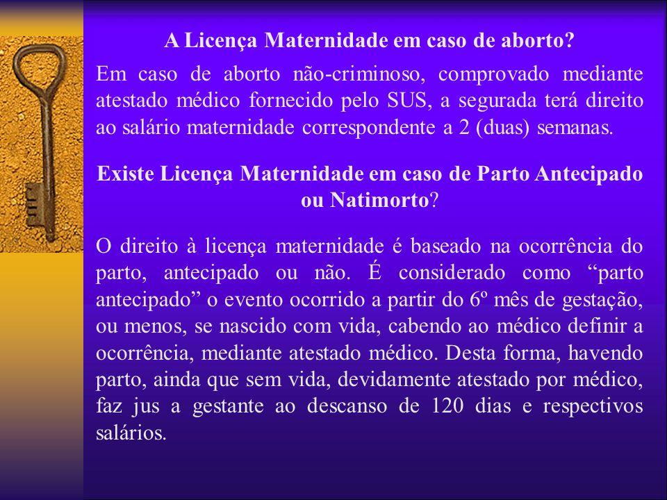 A Licença Maternidade em caso de aborto