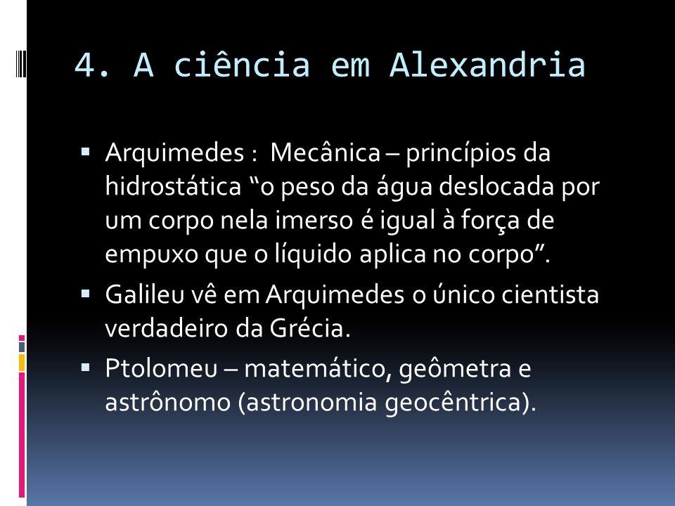 4. A ciência em Alexandria