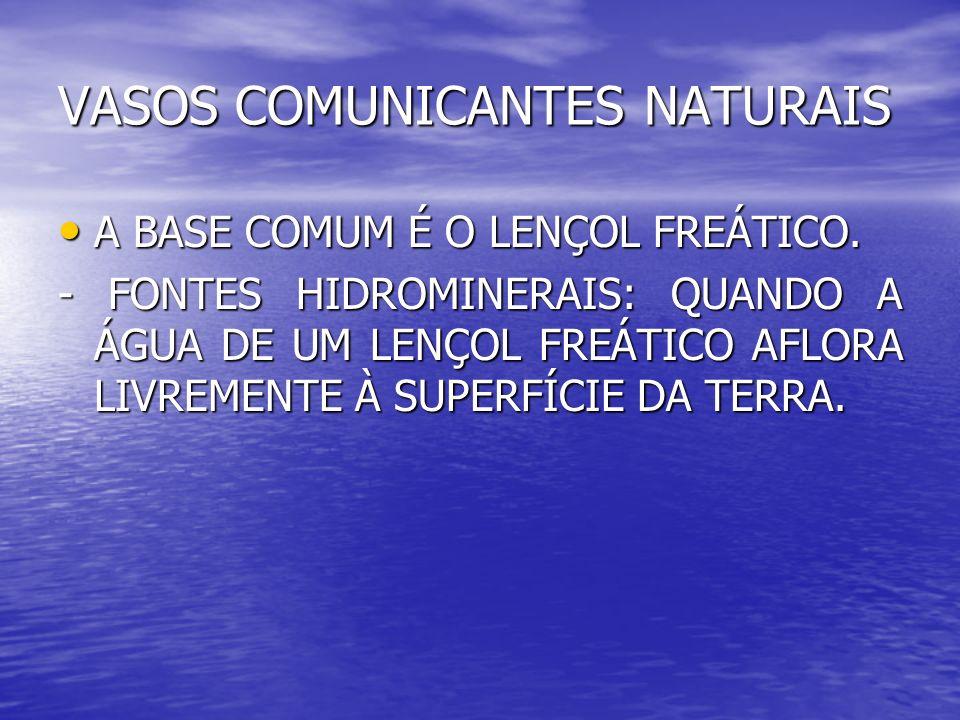 VASOS COMUNICANTES NATURAIS