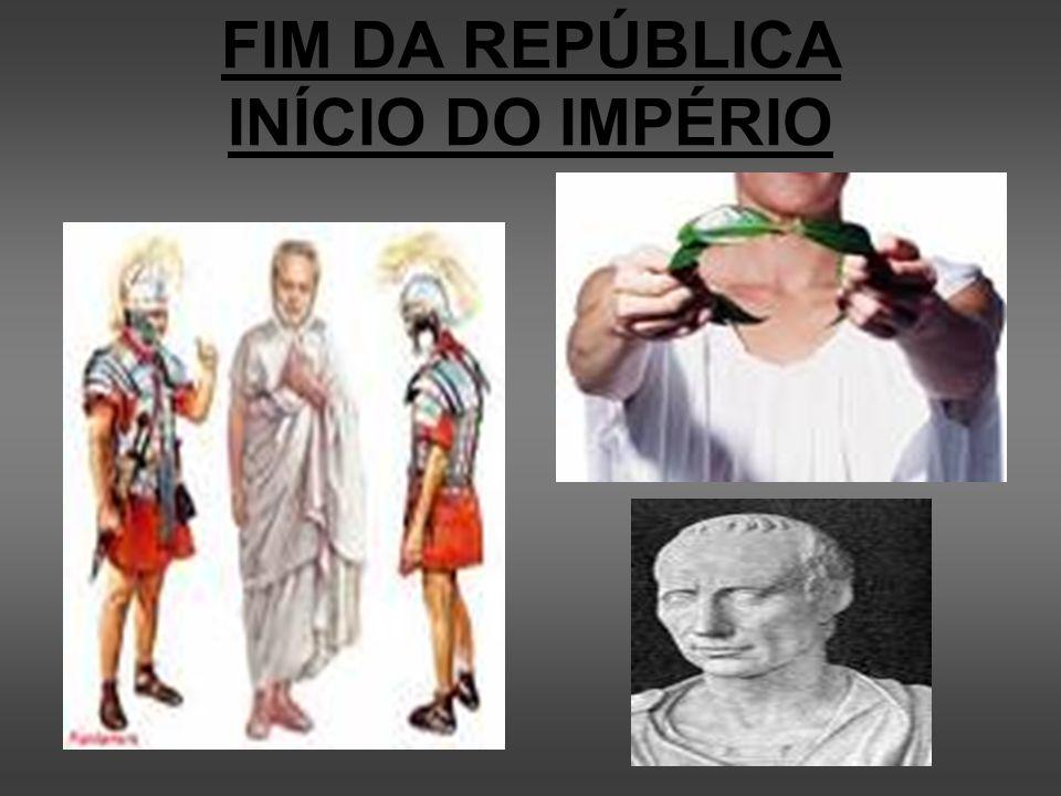 FIM DA REPÚBLICA INÍCIO DO IMPÉRIO