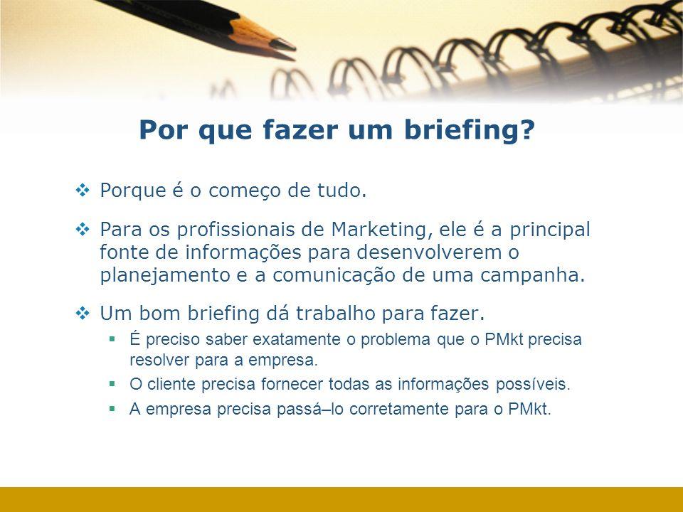 Por que fazer um briefing