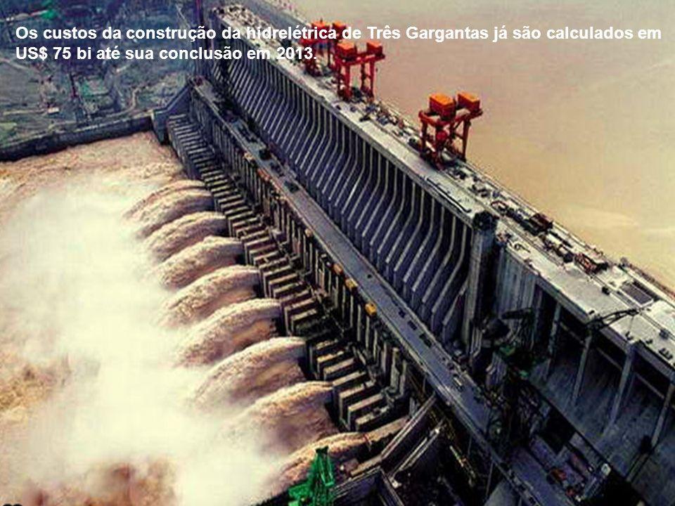 Os custos da construção da hidrelétrica de Três Gargantas já são calculados em